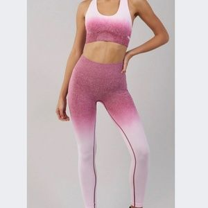 Ombre sports bra and leggings